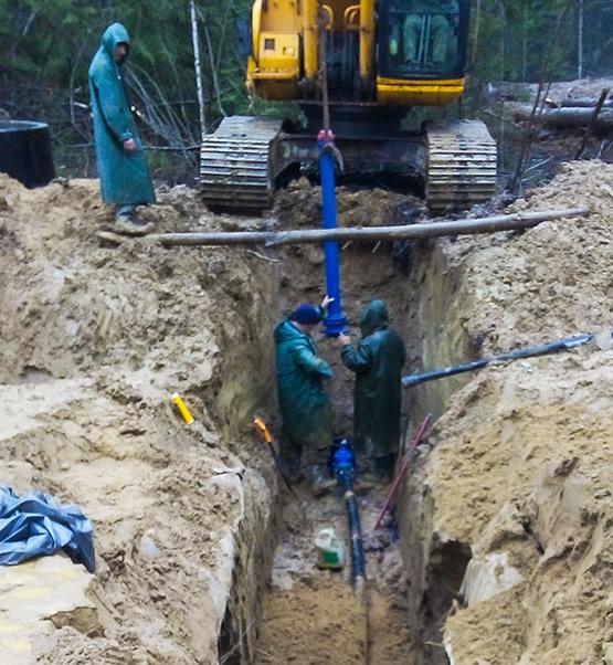 Строительство газопроводов и тепловых сетей